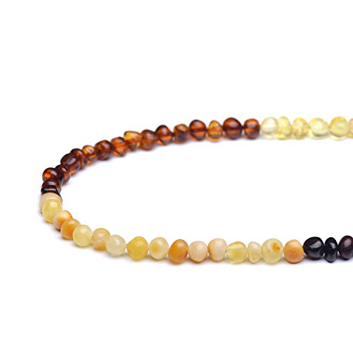 Polished Baltic Amber Loose Bead with drilled Hole 10grams - 3 Different Sizes to Choose - 6 Different Colors to Choose (Mixed2, 4-6 mm)