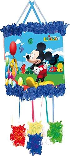 Pinata * Mickey Mouse *–Comme Train Pinata pour jusqu'à 7Enfant–Plus Masque.» avec süssigkeiten ou jouer rempli, env. 28cm Diamètre/Piñata Mexique Enfant Anniversaire pour anniversaire d'enfant Jeu Spass Mickey Disney Dekospass DS-0285