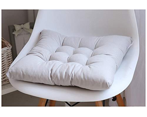 GELing Cojines para Silla Espesar Transpirable Cojin Cuadrado para Sala De Estar Dormitorio Oficina Gris 40X