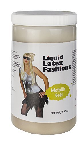 [Ammonia Free Liquid Latex Body Paint - 32oz Metallic Gold] (Body Paint Costumes For Halloween)