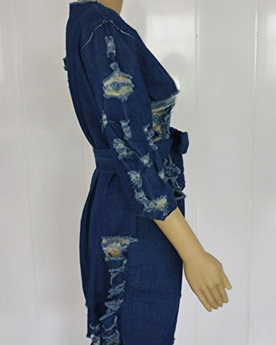 8901 Women's Dark Dress Jeans Night Zipper Size Front Blue Dress Club Light Shirt 6233 Blue Sexy Denim Plus r0WqarxUwZ
