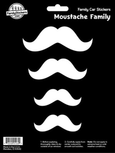 WMI Designs (10027) Moustache Family Stickers]()