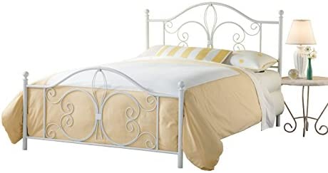 home, kitchen, furniture, bedroom furniture, beds, frames, bases,  beds 3 on sale Hillsdale Furniture Hillsdale Ruby Frame Queen Bed, White in USA