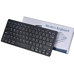 zishine wireless keyboard ultra thin portable whisper quiet wireless keyboard. Black Bedroom Furniture Sets. Home Design Ideas