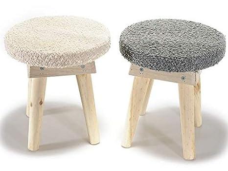 Sgabelli in legno con seduta n stoffa amazon casa e cucina