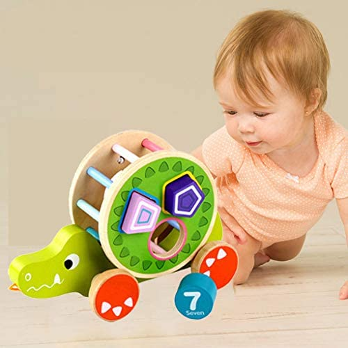 WXHNY Building Blocks Caterpillar Wooden Tower Toy Early Education Children Intellectual Development Assembling Tools Rainbow Stacking Wooden Puzzle Toddler boy and Girl Toys