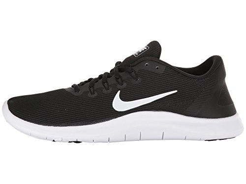 Nike Mens Flex Scarpa Da Corsa 2018 Rn Nero-bianco-nero