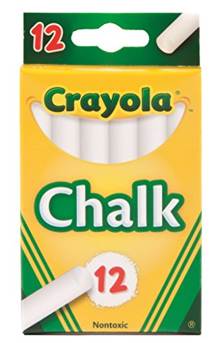 Crayola Chalk, White, 12-Pack