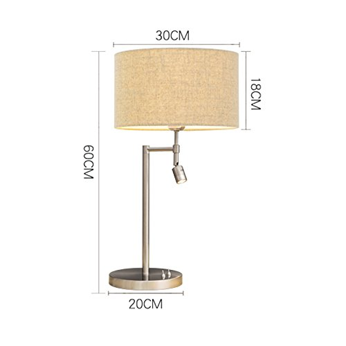 Great St. 3W LED Reading Lights, Classic Color Lamp Shade, Independent Switch Control, Bedroom Bedside Lamp FGD (Color : Linen color) by Great St. (Image #4)