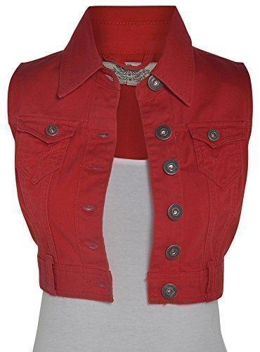 Damen Jeansweste Neu Größe 36 - 44 - 40, Rouge
