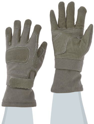 Ansell ActivArmr 46-455 Nomex Kevlar Flame Resistant Cold Weather Tactical Combat Glove with Textured Grip, Cut Resistant, Extended Cuff, 11-1/4 Length, Small, Foliage Green (1 Pair) by Ansell