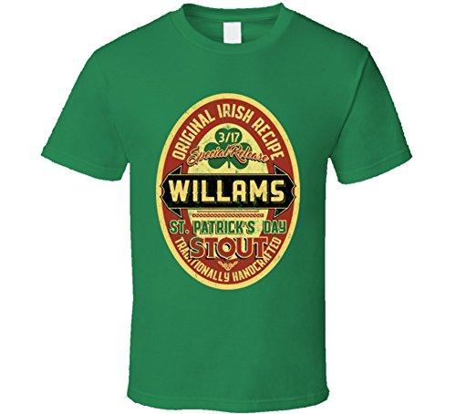 Willams Original Irish Stout Beer Label St Patricks Day Last Name T Shirt 2XL Irish - Willams Patrick