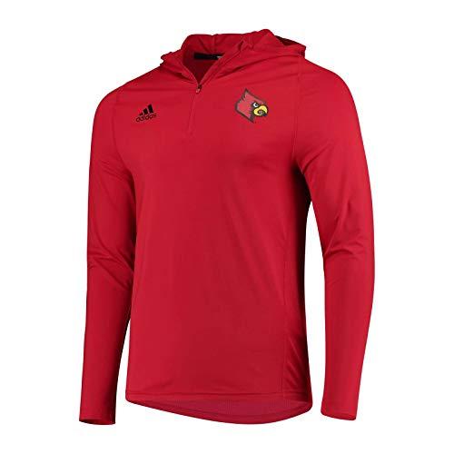 adidas Louisville Cardinals Sideline Training 1/4 Zip Hoodie (XL, Red)