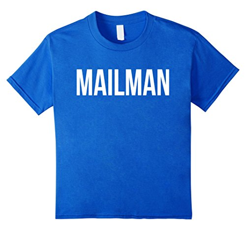 Kids Awesome Mailman T-shirt Best Mailman Costume Ever 6 Royal (Mailman Costume For Kids)