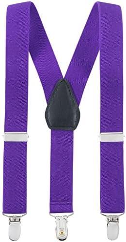 Fancy Kids Elastic Adjustable Suspenders - Purple (30)