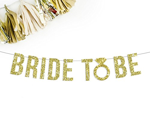 Bride To Be Gold Glitter Party Banner ()