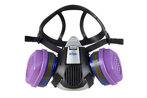 Dräger X-plore 3500 Half-Face Respirator Mask + 2x P100/Multi-Gas Combination Cartridge (OV/AG/HF/FM/CD/AM/MA/HS/P100) | Reusable Professional Respiratory Protection Kit | NIOSH-Certified by Dräger (Image #4)