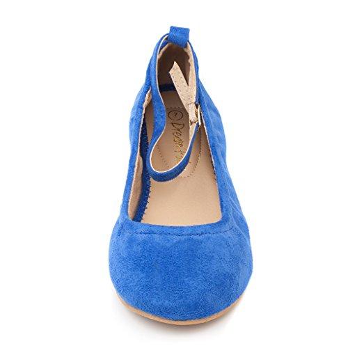 Women's Fina Straps Blue Ankle Sole Royal Shoes Straps DREAM Flats PAIRS Ballet AtRqx75