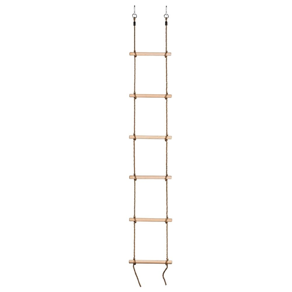 Unbranded Swing Set Climbing Rope Ladder 6 Steps 8-10 Ft Swing Ready For Your Tree House Easy To Install For Ages 3 & Up-MegaTrade Prime