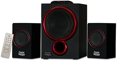 Theater Solutions by Goldwood 2.1 Speaker System 2.1-Channel Home Theater Speaker System, Black (TS212)