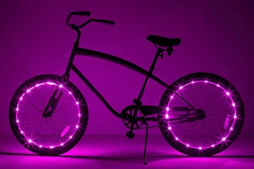 NEW Wheelbrightz Pink Lights for your bike tires