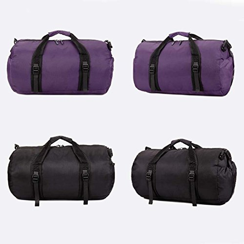 Multi Functional Sports Gym Bag-Foldable Travel Duffel Gym Bags for Man Women (Purple) by Raysell