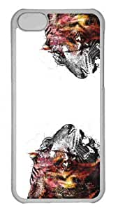 Customized iphone 5C PC Transparent Case - Tigers Art Personalized Cover