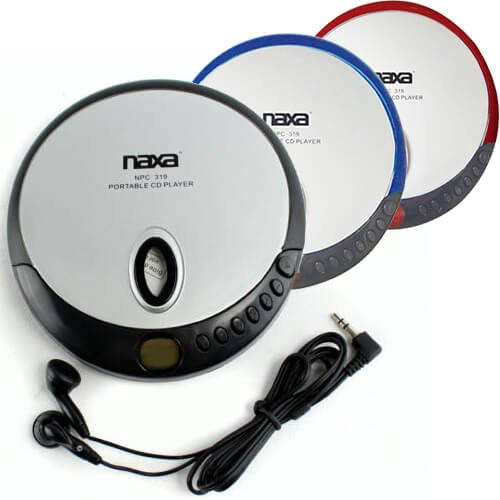 Naxa NPC-319 Slim Personal Compact Disc Player colors may vary