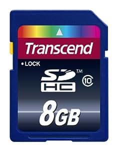 Transcend TS8GSDHC10E - Tarjeta de memoria de 8 GB (clase 10, 30 MB/s)