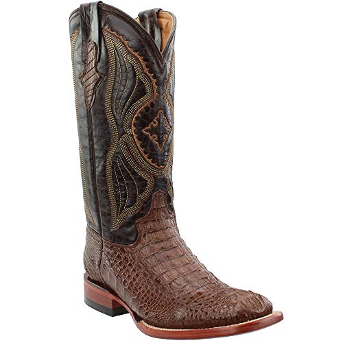 Ferrini Ladies Hornback Caiman Croc Sq Toe 7 Rst ()
