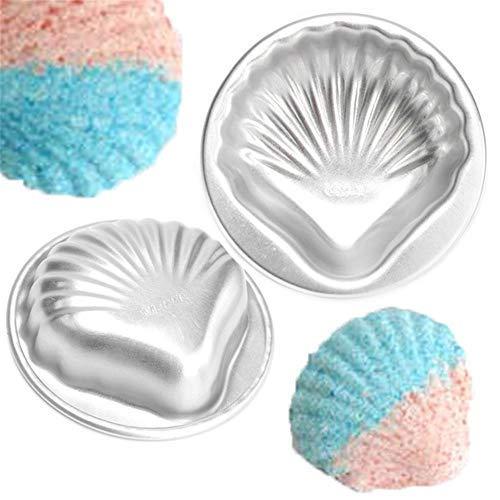 1pcs Bath Bomb Molds, Sea Shell Shape Aluminum Alloy DIY Bathing Tools