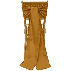 Ultimate Textile 8 x 100-Inch Polyester Chair Tie Sash Copper Brown