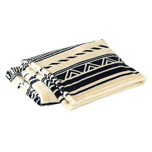 Fleece Concept - Time Concept Fluffy Fuwa Fuwa Tribal Designed Blanket - Polyester Made, Ivory - Approx. 60