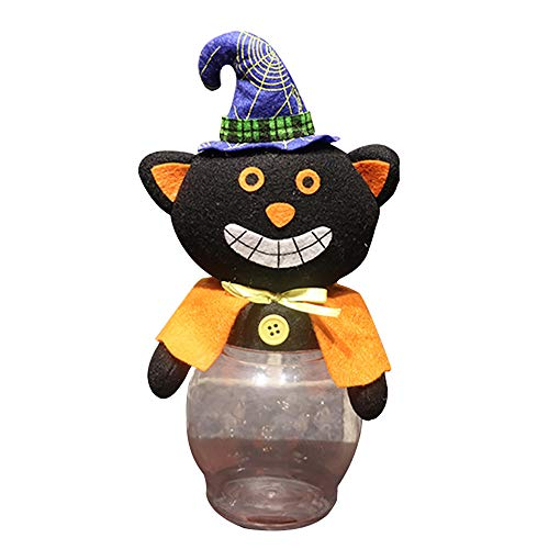 Willsa Pumpkin Halloween Transparent Candy Jar Decorated with Candy Jar Decorations