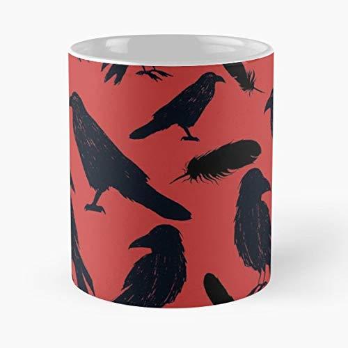 Crow Crows Black Bird Feather - Morning Coffee