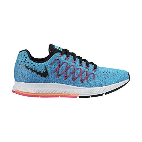 Nike Femmes Air Zoom Pegasus 32 (w) Chaussure De Course Bl Lagoon / Blk / Snst Glw / Pnk Pw