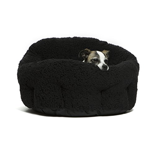 "Best Friends by Sheri OrthoComfort Deep Dish Cuddler (20x20x12"") - Self-Warming  Cat and Dog Bed, Black"
