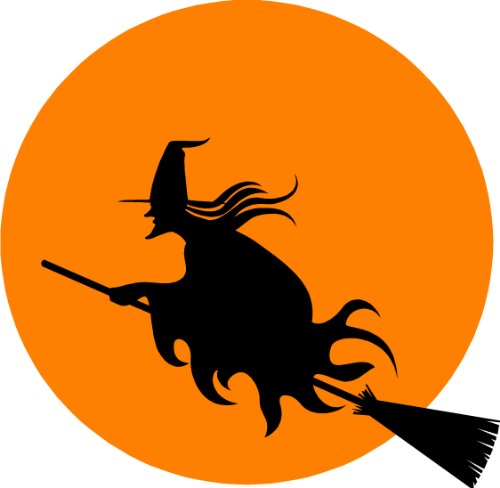 Halloween Witch wall sticker decal - Removable Decoration Wall sticker for home. cute wall art wall quote wall saying
