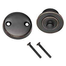 DESIGN HOUSE Parts & Accessories 522342 Lift & Turn Bath Drain Kit, Oil Rubbed Bronze, Pack of 1