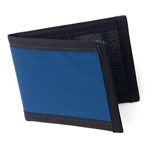 Flowfold Vanguard Slim Front Pocket Bifold Wallet - Light Weight - Minimalist - Made in the USA - Navy Blue (The Best Mens Wallet In The World)