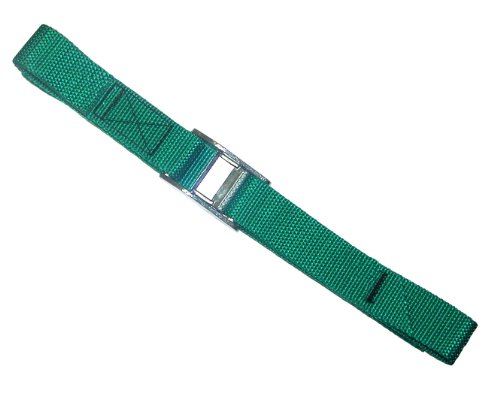Strapits Cam Buckle - CLC Custom Leathercraft 2WS06 Strap-It Web Tie Down Straps, Green, 6-Foot, 2-Pack