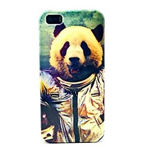 JAJAY Cool Panda Spaceman Pattern Durable Pattern Hard Plastic Case for iPhone 5S/5