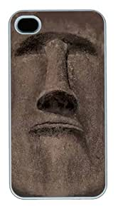 Easter Island Face PC Case Cover for iPhone 4 and iPhone 4s White
