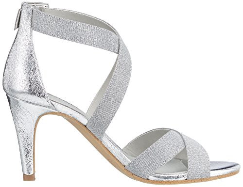 Sandalia con Silver Glitter Oliver Mujer para 28315 Pulsera EU 40 Plateado s 8xE4wqn