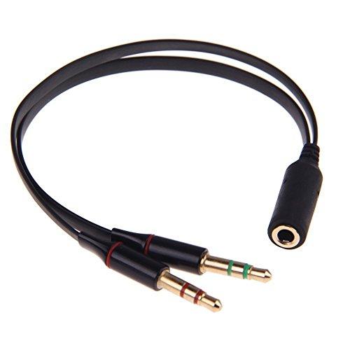 Conwork Headphone Splitter for Computer 3.5mm Stereo Female