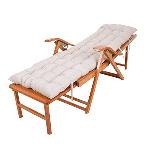 - SACKDERTY Bamboo Reclining Chair Folding Sun Lounger Adjustable Portable Zero Gravity Deck Chair with Cotton Pad Retractable Pedal