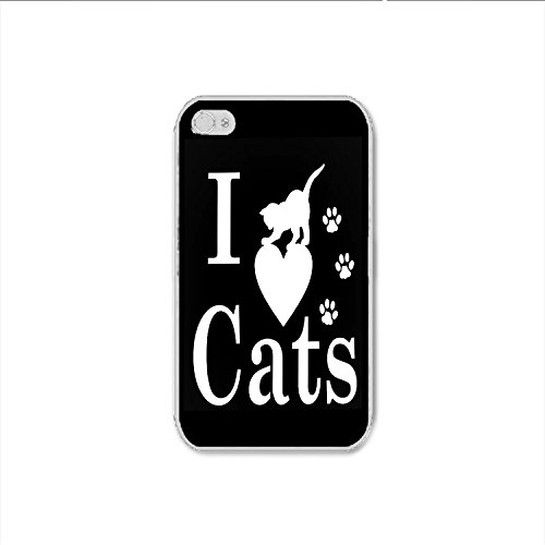 I Love Cats iPhone 4 Case, I Love Cats iPhone 4s Case Shipp From US
