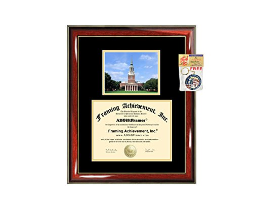 (Wake Forest University Diploma Frame Campus Picture Graduation Gift WFU Degree Frame College Plaque Holder Case Certificate Framing)