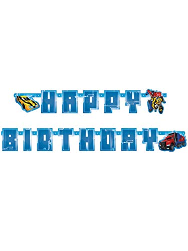 amscan International 9901308 1.8 x 14 cm Transformers Robots in Disguise Letter Banner -
