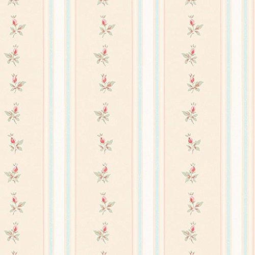 Manhattan comfort NWAB27642 Stratford Series Striped Floral Design Large Wallpaper Roll, 20.5